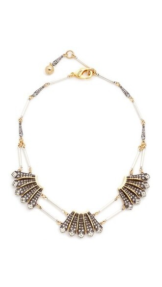 triple necklace gold silver jewels
