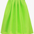 Bright Green Flare Pleated Long Skirt - Sheinside.com