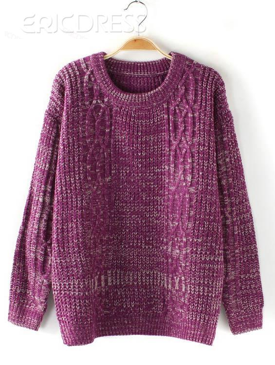 Fascinating New Arrival All-matched Candy Color Hemp Flower Sweater  Knitwear- ericdress.com 10833585