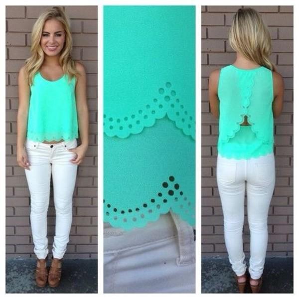 jeans white blouse