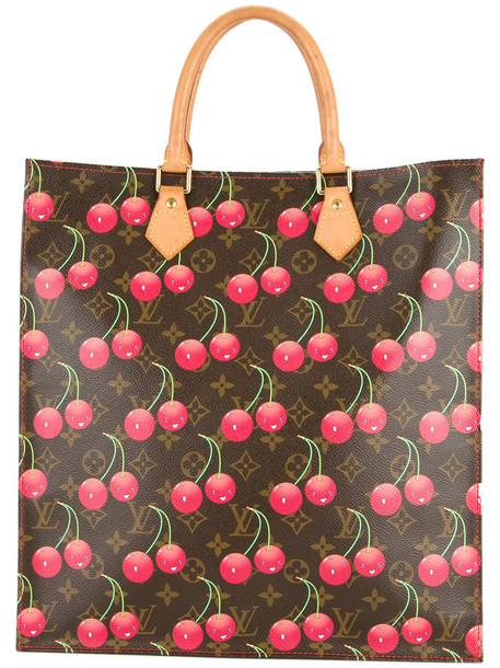 Louis Vuitton Vintage - sac plat cherry monogram bag - women - Leather - One Size, Brown, Leather
