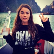 sweater,dkny,black,white,black sweater,printed sweater,new york city,fashion,style,tumblr,donna karan new york