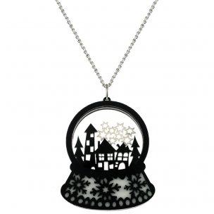 Snowglobe Necklace | handmade Jewellery
