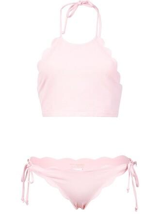bikini women spandex purple pink swimwear