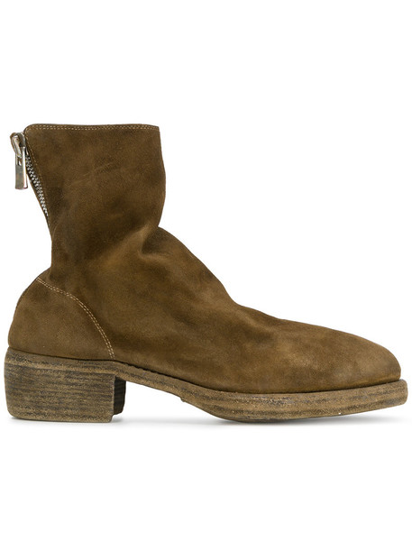 Guidi heel horse women heel boots leather brown shoes