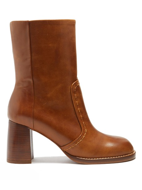 Joseph heel leather ankle boots ankle boots leather tan shoes