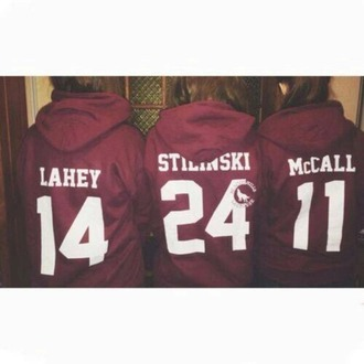 sweater teen wolf outfit isaac lahey scott mccall stiles stilinski red sweater
