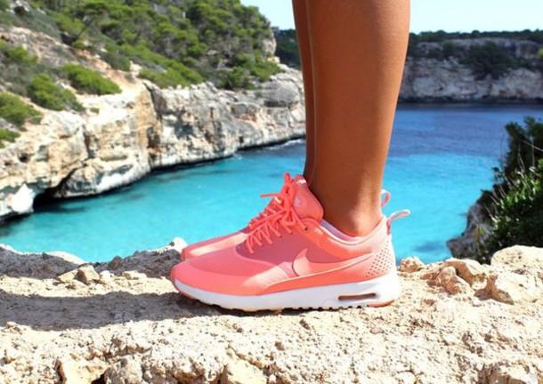b082da384a shoes nike airmax thea nike air max pink orange running shoes sportswear  leggings cute running air