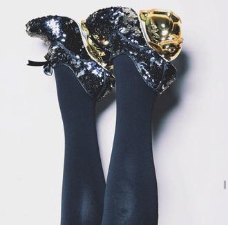 shoes kat von d sparkle sequins heels navy bunny rabbits bow extravagant easter