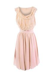 dress,ruffle,bohemian,boho,boho dress,beige dress,beige,chiffon