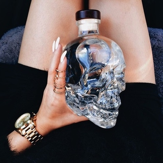 home accessory skull clear home decor