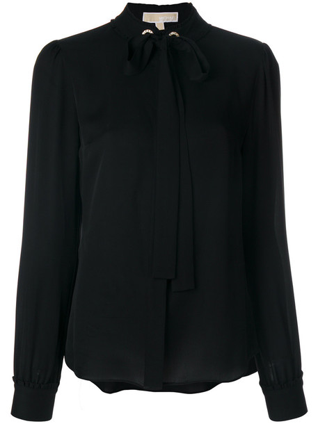 MICHAEL Michael Kors blouse bow women black silk top