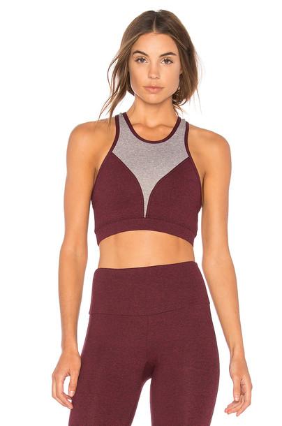 Onzie bra sports bra high high neck burgundy underwear
