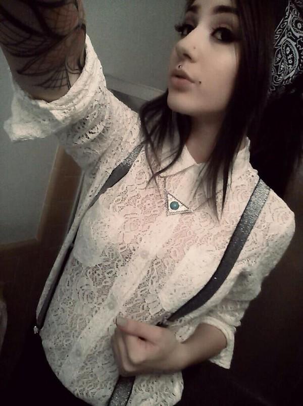 blouse alternative goth goth grunge pastel goth lace dress