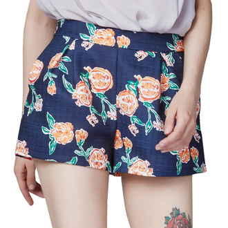 shorts print printed shorts blue