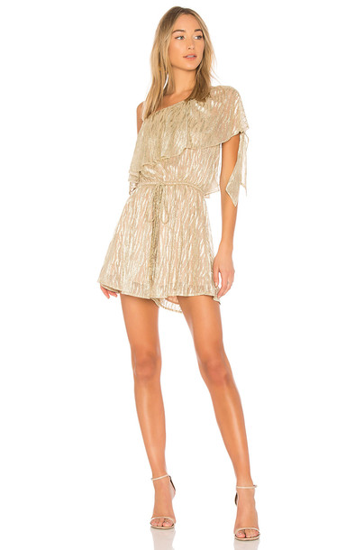 ELLIATT metallic gold romper
