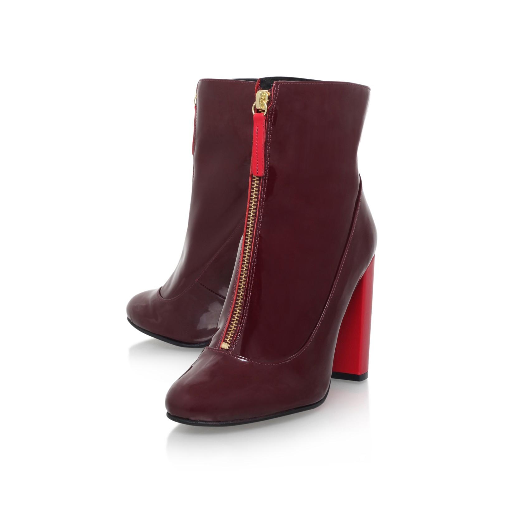 STEPHAN Wine High Heel Ankle Boots by Carvela Kurt Geiger