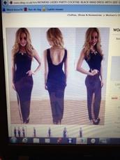dress,black maxi dress,open back,backless,maxi dress,black dress,side split