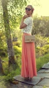 skirt,blush,pink,maxi skirt