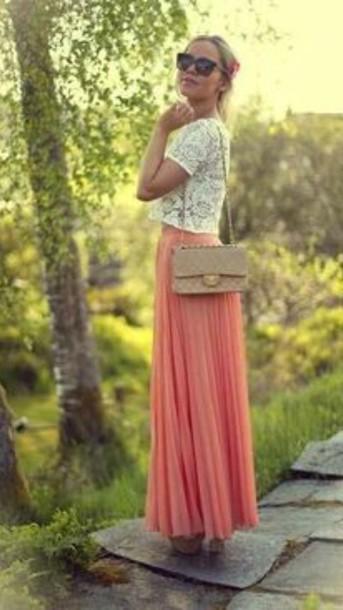 skirt blush pink maxi skirt
