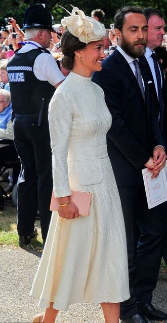dress midi dress pippa middleton hat long sleeve dress