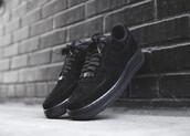 shoes,nike,nike air force 1,low,nike shoes,black,nike air force 1 low,sneakers,suede sneakers