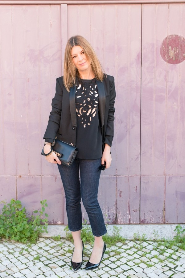 the working girl blouse bag shoes jewels jeans jacket