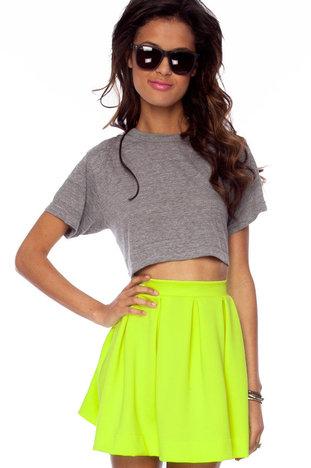 Scuba Dooba Skirt in Neon Coral :: tobi
