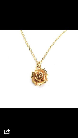 roses jewels floral necklace
