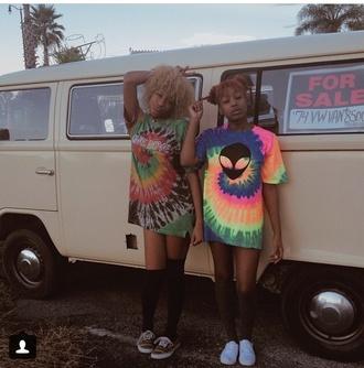instagram tie dye indie grunge hipster alien t-shirt