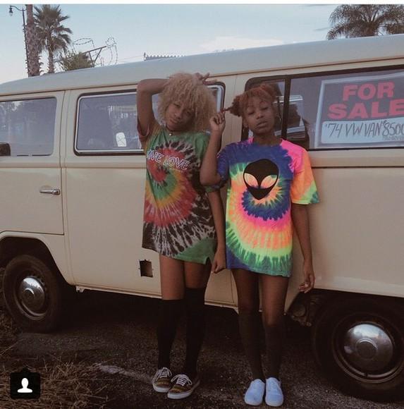 tie dye grunge hipster instagram indie alien