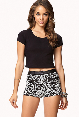 Brocade Shorts | FOREVER21 - 2058180781