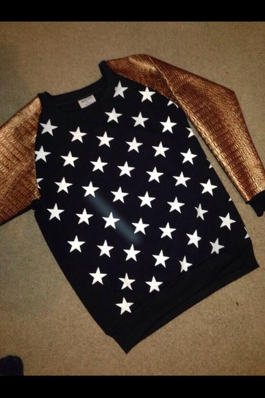 sweater menswear gold stars