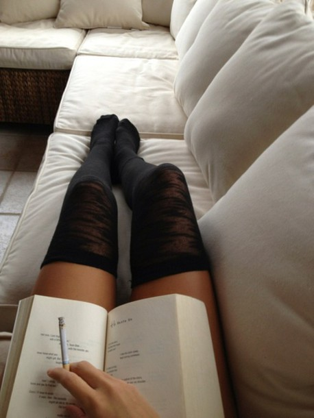 socks black overknees overknee socks knee high socks