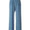 Msgm - print palazzo pants - women - silk/polyester - 40, blue, silk/polyester