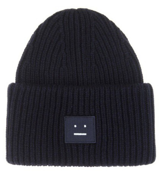 Acne Studios Pansy Wool Knitted Hat in blue