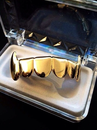 jewels gold vampire grillz asap asap rocky