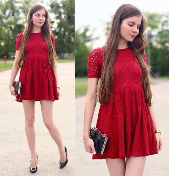 dress red dress short dress