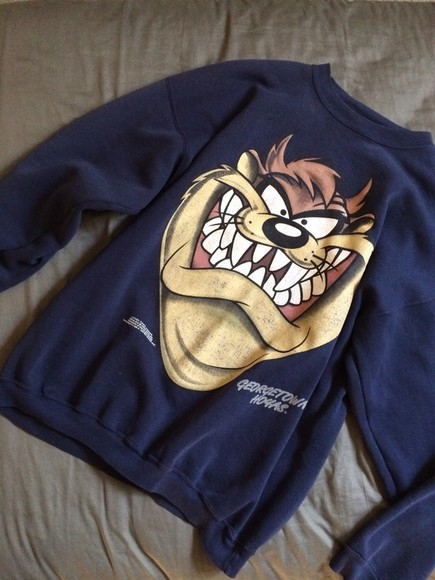 sweater cartoon coat warm crewneck crewnecks