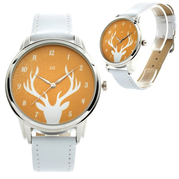 jewels watch watch deer ziziztime ziz watch white and yellow
