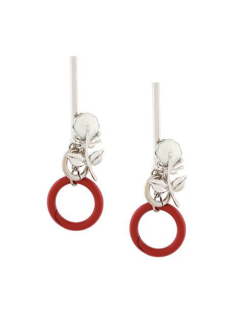 MARNI women plastic earrings grey metallic jewels