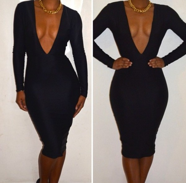 dress v neck dress plunge v neck black dress midi dress bodycon dress white dress red dress