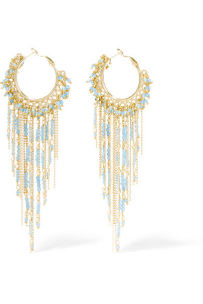 Rosantica earrings gold blue jewels
