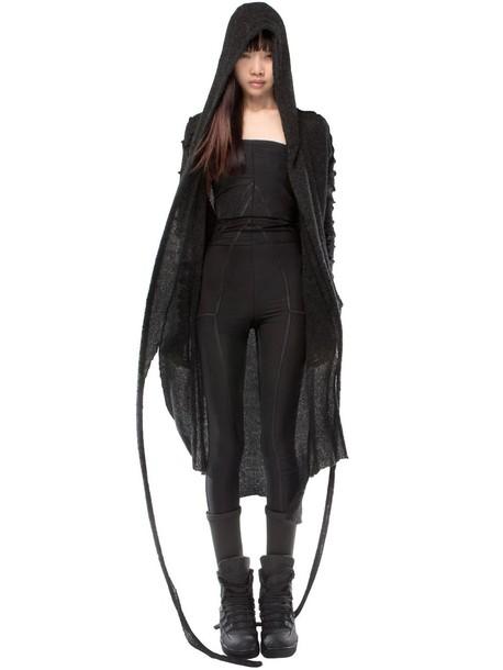 DEMOBAZA Visitant Wool Cardigan in black