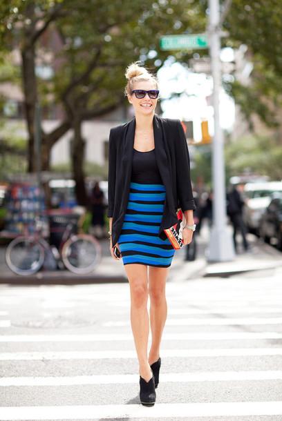 stripes fashion week 2014 skirt