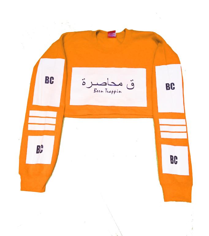 Orange crop sweatshirt