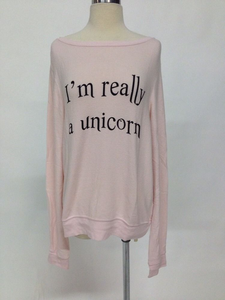 Auth WILDFOX Couture I'M Really A Unicorn Baggy Beach Jumper Rosy Cheeks M | eBay