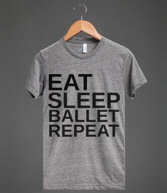 t-shirt eat sleep ballet repeat dance ballerina ballet shirt workout pointec