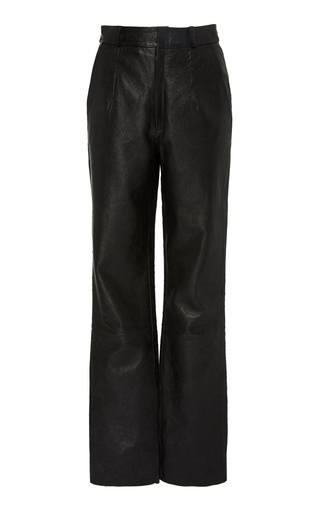 Leather Straight-Leg Pants by Zeynep Arçay | Moda Operandi