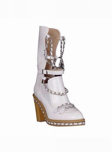 *Exclusive - FREJA Chain Embellished Biker Ankle Boots |White| In Shoes | JESSICABUURMAN [7141] - $159.00 : JESSICABUURMAN.COM